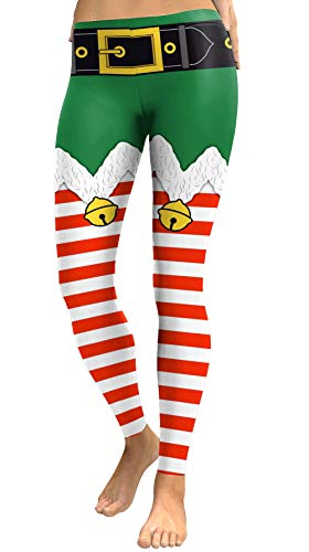 Intimate Boutique Christmas Women's Ugly Santa Claus Reindeer Leggings - Green - S