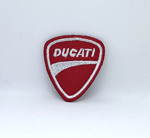 Parche bordado para coser o planchar con diseño de cascos Ducati