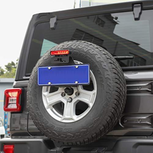 WXQYR Supporto per staffa di montaggio per Targa in Metallo per ruota di scorta posteriore per Jeep Wrangler JL 2018 2019 2020 Supporto per Targa