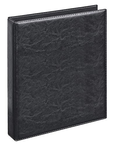 Veloflex 5143780 - Ringbuch Exquisit DIN A4, Ordner, hochwertige Weichfolie, Lederoptik, 4-Ring-Mechanik, 25mm, schwarz