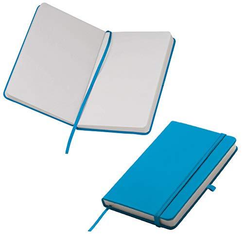 Notizbuch / DIN A6 / 160 S. / blanko / samtweiches PU Hardcover / Farbe: türkis