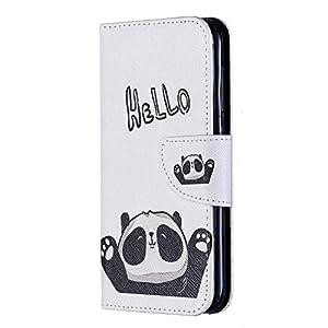 NEXCURIO Nokia 4.2 Hülle Leder, Handyhülle Tasche Leder Flip Case Brieftasche Etui mit Kartenfach Stoßfest Kratzfest Schutzhülle für Nokia4.2 – NEBFE090181 N1