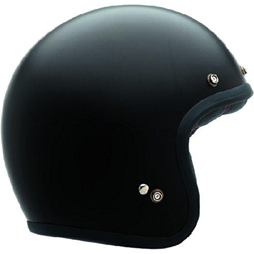 Bell Casco Custom 500 Nero Solido Opaco, Nero, Taglia XL