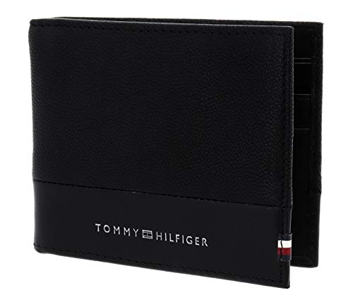 Tommy Hilfiger Mini CC Wallet with Money Clip testurizzato Black