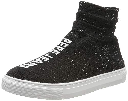 Pepe Jeans London Adams Sock, Zapatillas para Mujer, Black 999, 40 EU