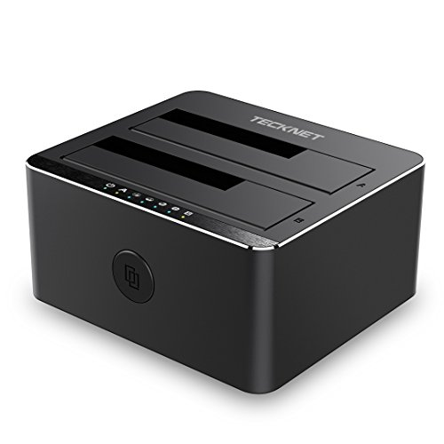TECKNET USB 3.0 Non in Linea Clone 2-bay Docking Station per Hard Disk HDD/SSD da 2,5
