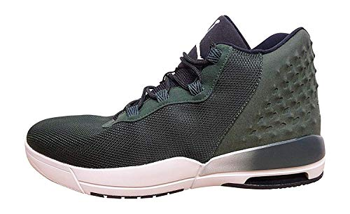 Nike Air Jordan Academy Mens Hi Top Trainers 844515 Sneakers Shoes (US 10, Grove Green Black Light Bone 300)