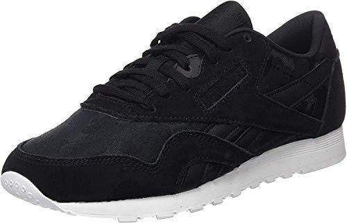 Reebok Damen Classic Nylon Sneaker, Schwarz (Black/White), 40.5 EU