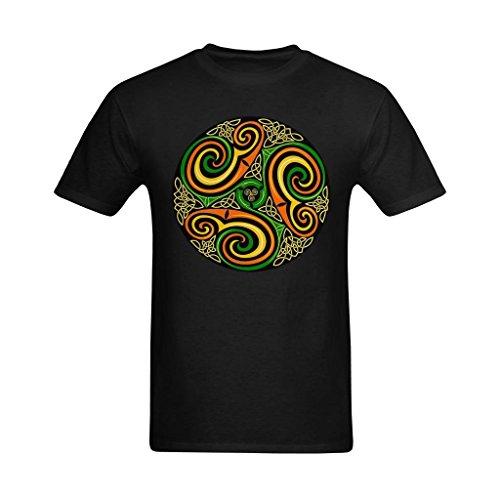 Whose Favor Men's Celtic Symbol Pattern Culture Art Design T-Shirt - Hot Topic Tee Shirt US Size Small