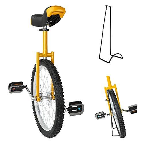 Triclicks 20'' Unicycles Monociclo Onlyone Monociclo Alto Trainer per Bambini/Adulti Monociclo Regolabile in AltezzaBici...