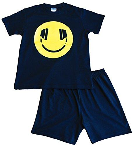 Kurzer, schwarzer Pyjama mit