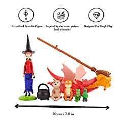 WOW! STUFF The Room On The Broom Story Time Set | Collectable Articulated Character Action Figures | Official Toys and Gifts from The Julia Donaldson and Axel Scheffler Books and Films #2