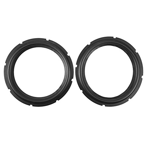 Altavoz de Goma Perforada 10 Pulgadas Foam Edge Subwoofer Surround Ring Piezas Repuesto para Reparación Altavoz o Bricolaje (Negro)(Two Pieces)
