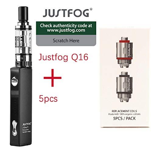 100% AUTENTICO sigaretta elettronica justgog q16 kit completo + 5 resistenze justfog 1.6ohm il prodotto non contiene nicotina né tabacco ((justfog kit + 5 coils))