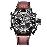 Cebbay Liquidación hombres reloj de regalo para mujer de cuarzo ocio moda Noble deporte ejército militar LED relojes reloj de pulsera de acero inoxidable analógica unisex (A)