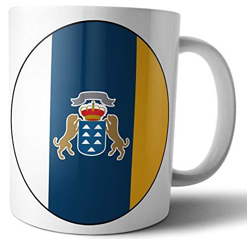 Kanarische Flagge – Kanarische Flagge – Tee – Kaffee – Tasse – Tasse – Geburtstag – Weihnachten – Geschenk – Secret Santa – Strumpffüller