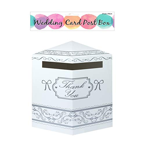 Wedding Card White Post Box