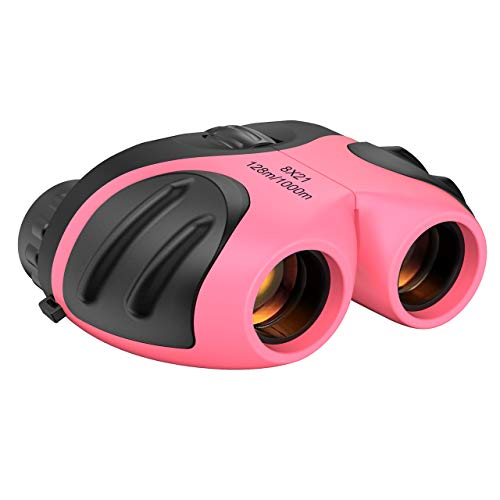 Dreamingbox Toys for 3-12 Year Old Girls, Compact Binocular for Kids Christmas Toys for Girls Age 3-12 Telescope for Kids Xmas Gifts for 3-12 Year Old Girls Stocking Fillers Rose TGUS010