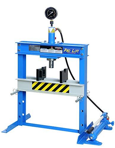 Pro-Lift-Werkzeuge Hydraulik-Presse 12t Werkstattpresse Tischpresse manuell blau Industrie-Presse Handpumpe umformen Shop-Press Abkantpresse verschraubt