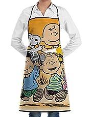 AOOEDM Apron Peanuts.Snoopy Delantales para Mujeres, Hombres, niñas, Camarero, Mascotas, Cocina, Esteticista, Peluquero, uñas, Carpintero, Decoraciones, ORN