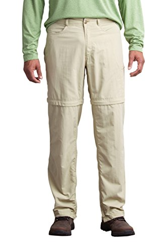 ExOfficio Men's BugsAway Sol Cool Ampario Convertible Pant - Short, Lt Khaki, 38