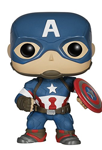 Funko Pop!- Capitán Vengadores Bobble: Marvel: Avengers AOU: Captain America (4778)