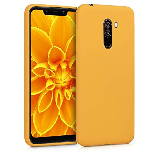 kwmobile Funda Compatible con Xiaomi Pocophone F1 - Funda Carcasa de TPU Silicona - Protector Trasero en Amarillo Miel