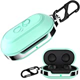 HALLEAST for Galaxy Buds+ Plus Carrying Case, Galaxy Buds TPU Full Protective Skin with Keychain Compatible Samsung Galaxy Buds Wireless 2020 2019 Earbuds Accessories, Mint Green