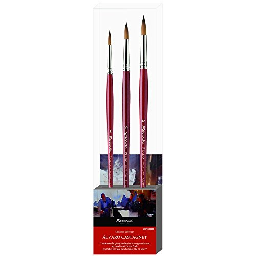 Speedball Escoda Artist Paint Brush, 6' x 6' Square, Assorted