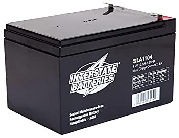 Interstate Batteries 12V 12Ah Battery  SLA1104  Sealed Lead Acid Rechargeable SLA AGM  F2 Terminal  Electric Fences Generators Scooters
