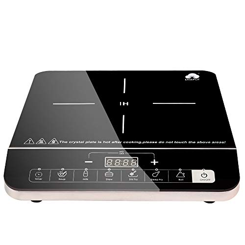 Easepot Electric Induction Cooker, 1800 Watt Sensor Touch Induction Cooktop with Safe System, Single...