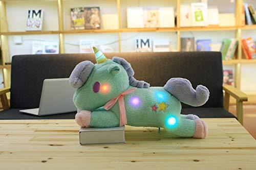 prbll Glühendes Einhorn, Puppe, Bluetooth-Verbindung intelligente Dialog, Singen, Plüsch-Spielzeug, Puppen 55cm GlühenDe Bluetooth blau