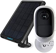 REOLINK Outdoor Security Camera Wireless Rechargeable Battery 1080P Home Surveillance Support Cloud Google Assistant Night Vision PIR Motion Detection SD Slot | Argus Pro with Solar Panel (Renewed)