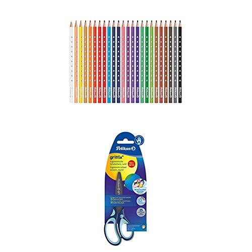 Pelikan Lápices de colores + Tijeras escolares