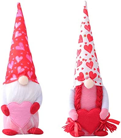 Shanji Gnomes Pluche Speelgoed voor Valentijnsdag Handgemaakte Gnome Gezichtloze Santa Doll Decor voor Thuis Indoor Geschenken voor Vrouwen