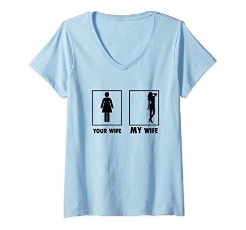Mujer Beautiful Lady, Husband Gentleman Dad Gift Your Wife My Wife Camiseta...