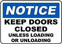 超耐久性のあるブリキの看板をロードしない限り、ドアを閉めておいてくださいレトロなバーの人々の洞窟カフェガレージ家の壁の装飾看板8x12インチ
