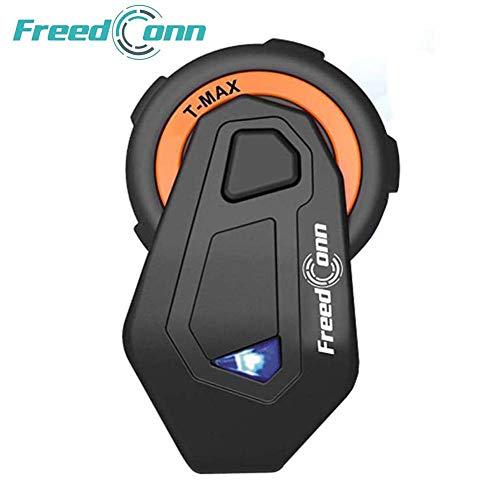 FreedConn Casco de la Motocicleta intercomunicador Bluetooth,Auricular Bluetooth de la Motocicleta walkie-Talkie, Motocicleta Auricular Bluetooth 1000M, Esquiar Mejor Llamada(1 Pieza Cable Duro)