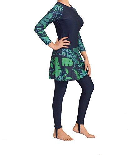 Farasha Damen-Bademode, einteilig, bescheidener Badeanzug zum Surfen Gr. S, Marineblau
