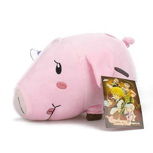 SGOT The Seven Deadly Sins Plüschtier, Anime Puppen, Meliodas/Hawk/Ban Plush Toy Kreative Netter, Geburtstags Geschenk for Anime Lovers 20cm(20cm Hawk)