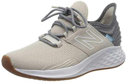 New Balance Women's Fresh Foam Roav V1 Sneaker, Moonbeam/Light Aluminum, 8.5 M US