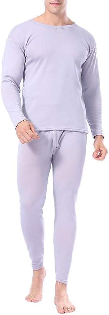 Mens Ultra Soft Thermal Underwear Winter Warm Top and Bottom Base Layer Long John Set