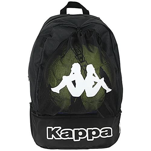 Kappa Supino Multisport-Rucksack, Unisex, Erwachsene, Schwarz, Einheitsgröße (Größe Hersteller: One Size)