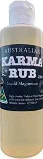 Karma Rub Topical Liquid Magnesium Oil - 100% Natural, Trace Minerals - Sleep Aid, Stress Relief, Migraine Relief, Muscle ...