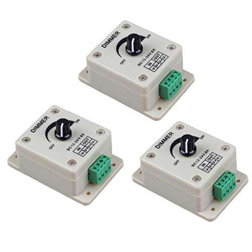 Interruptor LED regulador del amortiguador de PWM de Gaza Brillo luz atenúa mando de ajuste de un solo canal DC 12-24V 3PCS de distribución de energía