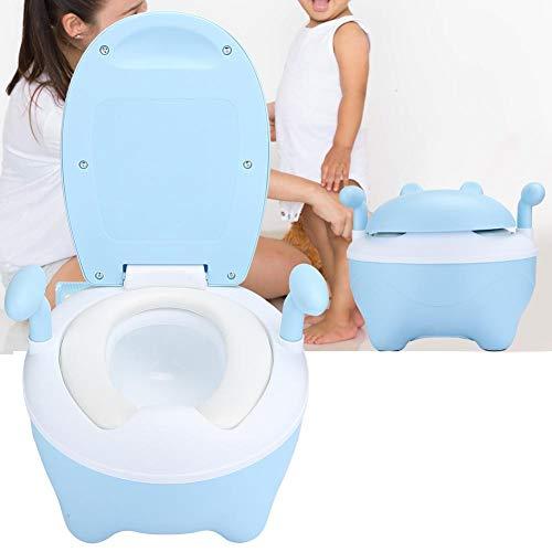 Zindelijkheidstraining Zitting voor Jongens en Meisjes Peuter Kinder Toiletbril met Hoes Antislip met Spatladder Toiletbril(Blauw)