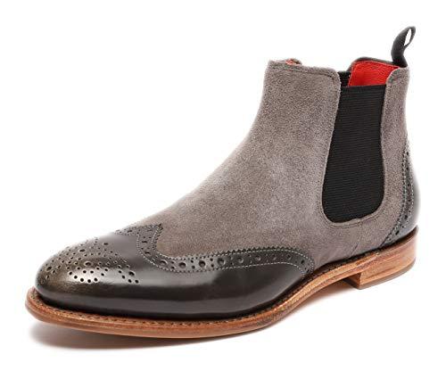 Gordon & Bros Damen Chelsea Boots Paris 5776,rahmengenähte,Flexible Frauen Stiefel,Halbstiefel,Stiefelette,Bootie,Goodyear Welted,Schlupfstiefel,Grey/Grey,EU 39