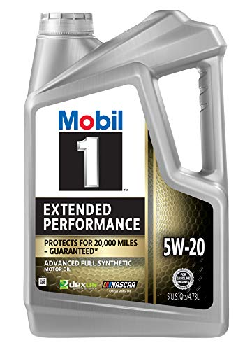 Mobil 1 Extended Performance Full Synthetic Motor Oil 5W-20, 5 Quart (120765)