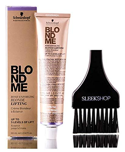 Schwarzkopf BLOND ME Bond Enforcing BLONDE LIFTING, Up to 5 Levels of Lift HAIR COLOR (with Sleek Tint Applicator Brush) Blondme Haircolor (ICE)