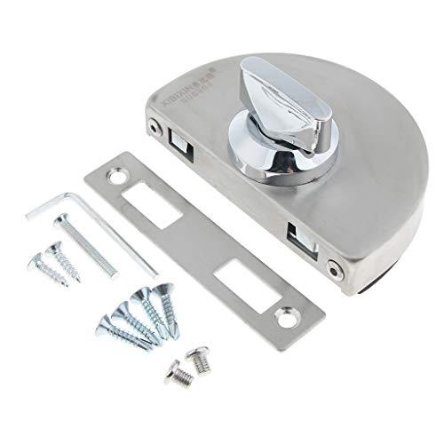 Türschlossfalle aus Metall Drehknopf Öffnen/Schließen Tür Schloss fürGlastüren/Glasschiebetür Inkl. Schrauben Montage Werkzeug